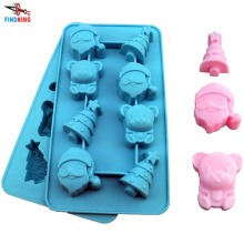 Soft Christmas Silicone Cake Mold High Quality Chocolate Mold Cupcake Liner Baking Cup Mold(China)