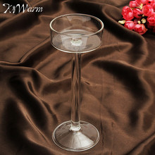KiWarm 1PC Elegant Classic Crystal Glass Candle Holder Tealight Candlestick For Wedding Home Wedding Romantic Dinner Decor 16cm
