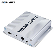 Replaitz TM99B Car TV Receiver HD/SD DVB-T Digital Car TV Box USB 2.0 Dual Tuners TV And Radio Channels Scan 160km/h High Speed(China)