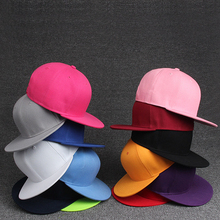 2017 brand Men Women's hats Solid Color Hip Hop Baseball Caps Snapback Hats Unisex Young men and women Candy colors Cap 12 color(China)