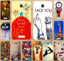 Case Cover For Fundas Lenovo A1000 A 1000 Cases The Eiffel Tower Red Phone Booth Painting Hard Phone Case Skin Shell Para Capa