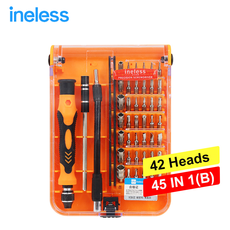 45 in 1 Multi-purpose Precision Magnetic Hand Screwdriver Set Electrical Household Hand Tool Set for Phone PC Repair<br><br>Aliexpress