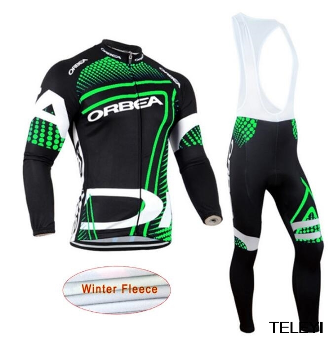 Winter cycling clothing Winter thermal fleece cycling jersey long set ropa ciclismo invierno mtb bike maillot ciclismo<br>