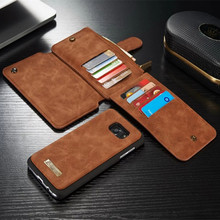 CaseMe Genuine Leather Multi Functional Stand Wallet Accessories Case For Samsung Galaxy S7/ S7 Edge With Card Holder Phone Case
