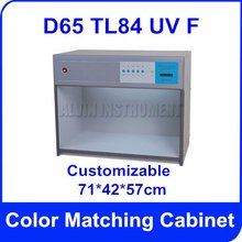 Free Shipping Color Matching Cabinet British standard light sources: D65 TL84 UV F Size:71*42*57cm Customizable Color Assessment