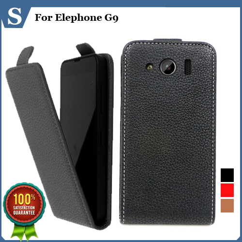 Factory price, Top new style flip PU leather case open Elephone G9, gift