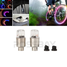 Colorful Wheel LED Safety Light Wheel Tire Air Valve Cap  Dust Cover For Car Bike Motorcycle Tyre Valve