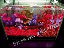 500 Pcs/Bag Red Aquarium Grass Seeds Indoor Exotic Seeds Ornamental Plant Fish Tank Water Grass Seeds ,Natural Growth