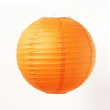 "3pcs 16""(40cm)Orange Paper Chinese Lantern For Fashion Party Wedding Room Showcase Decoration Festival Decoration DIY(China)"