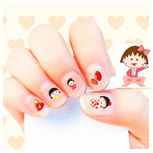 2017 New arrive korea Waterproof 3D Nails Sticker Japan sakura momoko 5Design Nails Foil Sticker Decor Decals make up children