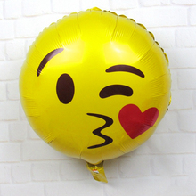 Brand New 4pcs 18inch Cartoon QQ Emoji Aluminum foil Balloon Children Toy Party Decor Birthday Holiday Decorations