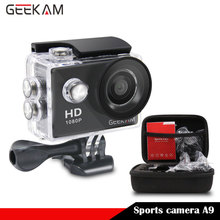GEEKAM A9 720P HD Action camera sports cam + bag Case 1080P 15fps deportivas Go 30M waterproof Video Sport pro camera camcorder