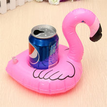 Flamingo Drink Can Holder Floating  Inflatable for Cola Cup/Cell Phone/Remote Controller Summer Pool Beach Swim Kids Float Toy