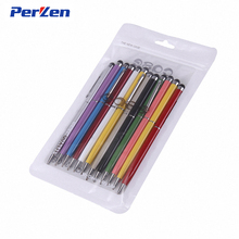 Hot!10pcs/Pack Universal 2 in 1 Touch Screen Stylus Pens for iPad iPhone Samsung Tablet / All Mobile Phones /Tablet PC + Zip Bag(China)