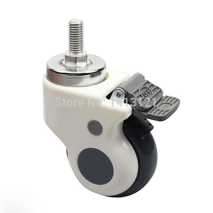 free shipping 75mm ultra-quiet thread hospital medical carts chair caster swivel caster pulley universal wheel hardware parts<br>