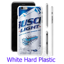 Budweiser Busch Light Beer White Phone Case Cover for iPhone 6 6S 7 Plus 5S 5 SE 5C 4 4S  (Soft TPU/Hard Plastic for  )