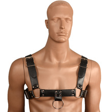 Buy Black Leather Men Chest Harnesses Belt Fetish Body Bondage Straps Male Sexy Erotic Product Gays Sexual Wear Sex Toys Couples