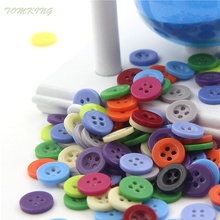 9mm( 0.34in) Candy color Resin Button Round  Sewing accessories scrapbooking child buttons  for clothing DIY free shipping