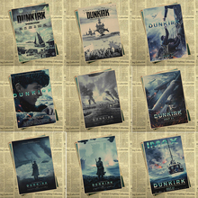 Dunkirk movie Posters Movie Posters Poster Vintage Retro Wall Sticker Home Decor 42*30cm(China)