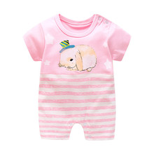 BibiCola Summer Baby rompers 2017 fashion Newborn Cartoon Animal Costume Baby Girls Boys summer clothing infant child coveralls