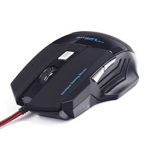 Hot Professional Double Click 6 Buttons 2400DPI Gaming Mouse USB Wired Optical Computer Game Mouse Mice for PC Laptop(China)