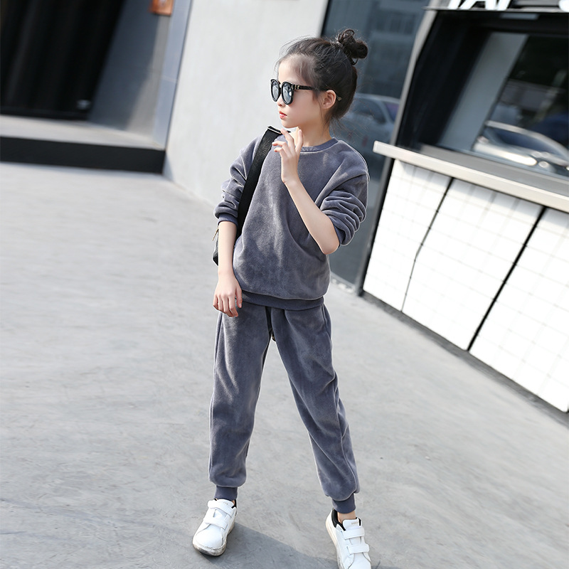 Spring Autumn Fashion kids Tracksuit Boy and Girl Sweatshirt + Pant 2PCS Teenager Cotton T-shirt Trousers Fashion Child Set <br><br>Aliexpress