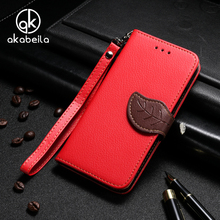 AKABEILA Cell Phone Case For Motorola Moto G5 Case Leaf Buckle Stand Flip Wallet Leather Phone Cover with Cord Card Holder Purse