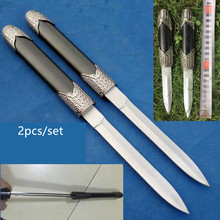 Black Delicate Chinese Short Sword Stainless Steel Dagger with Plastic Sheath .30cm Length
