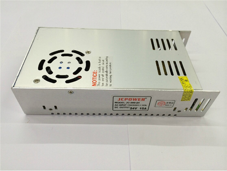 Free Shipping AC 110-240V to DC 24V 15A Switching Power Supply Converter with power cable PS-24V-15A<br>