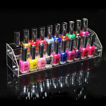 New Fashion Nail Tools Clear Transparent Acrylic Nail Polish Salon Exhibition Wall 2 Layers Nail Polish Rack Storage Shelf