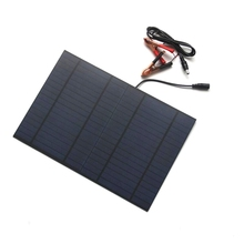 NEW 10W 18V Polycrystalline Solar Panel Modul PET+EVA Solar Cell 12V Battery Charger 5521 DC Bus+Clip High Quality