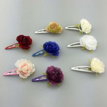 1 pcs  8Colors Fashion hairpins Peony hair clip headband Hair accessories wholesale Factory direct sales