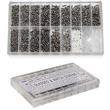 1000pcs/set Stainless Steel Micro Glasses Sunglass Watch Spectacles Phone Tablet Screws Nuts Screwdriver Repair Kits Tools PJW(China)