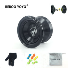 2017 New Metal Yoyo Professional Yoyo Set Yo yo + Glove + 3 String + Yoyos Bag S2 Yo-yo Classic Toys Diabolo Gift For Children(China)