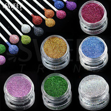 1 x 3g Jar Shiny Laser Holographic Nail Glitter Dust Powder for Nail Art DIY UV Gel Polish Nail Tip Decor Glitter Craft LAL01-16(China)