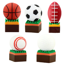 Football/Baseball/Golf USB 2.0 Full Capacity 64GB 32GB 16GB 8GB U Disk Flash Pen Drive Flash Memory Stick Gift USB Flash Drive