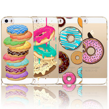 Dessert Ice cream Cupcake Macaroon Case Cover Bag For iPhone 5 5S SE 4.0Inch Luxury Rubber Silicon Transparent Mobile Phone Case