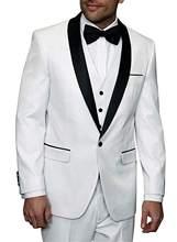 Novio traje de los hombres Slim Fit 3 unidades trajes chal solapa botón  Multi-Color boda fiesta chaqueta de esmoquin chaleco Pan. 1074715faba