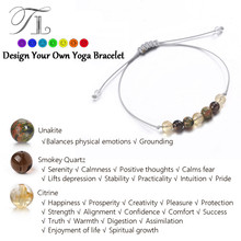 TL New Arrival Handmade Healing Bracelets Natural Unakite Smoky Crystal Seven Bead Chakra Power Energy Bracelets For Women Girls(China)
