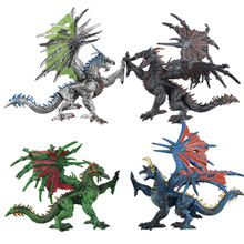 The three-dimensional simulation model dinosaur toys assembled plastic to hold hell dragon model.