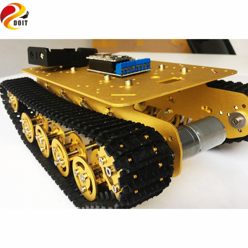Official DOIT TS100 RC WiFi Robot Tank Car Chassis Controlled by Android/iOS Phone based on Nodemcu ESP8266 with Video Control<br><br>Aliexpress