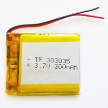 3.7V 300mah 303035 Lithium Polymer LiPo Rechargeable Battery For Mp3 Mp4 Mp5 DIY PAD DVD E-book bluetooth headset