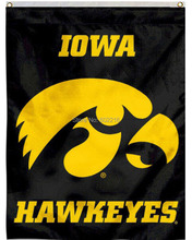 Iowa Hawkeyes Black House College Large Outdoor Flag 3ft x 5ft Football Hockey College USA Flag(China)