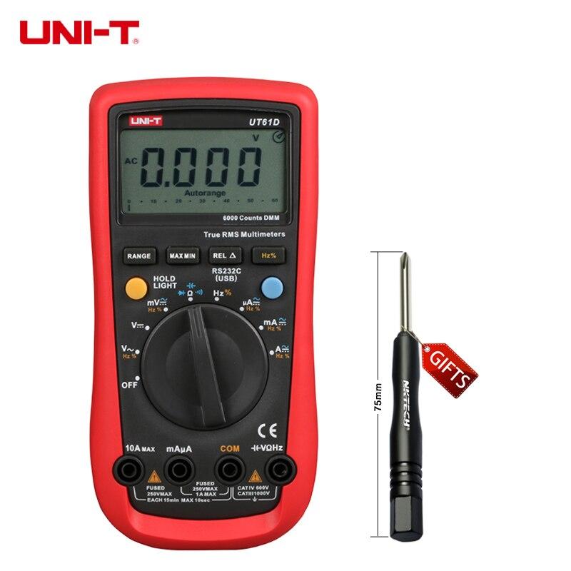 UNI-T UT61D Digital Multimeter Auto Range True RMS DMM AC/DC V/A Ohm Freq B0632<br><br>Aliexpress