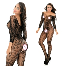 Buy 2017Women's Sexy Lingerie Sexy Bodystockings Sex Costumes Sexy Underwear Intimates Kimono Sex products Open Crotch Women Teddies