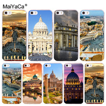 MaiYaCa Italy Landscape Peter Square High Quality Luxury phone case for iPhone 8 7 6 6S Plus X 10 5 5S SE 5C 4 4S Coque Shell(China)