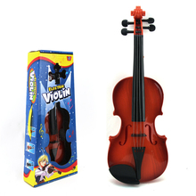 Children Beginners Instrument Adjust String Simulation Violin Musical Toy with Retail Box A100(China)