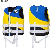 Professional children professional neoprene Portable Kids life jackets water floating surfing snorkeling Swimming thick vest
