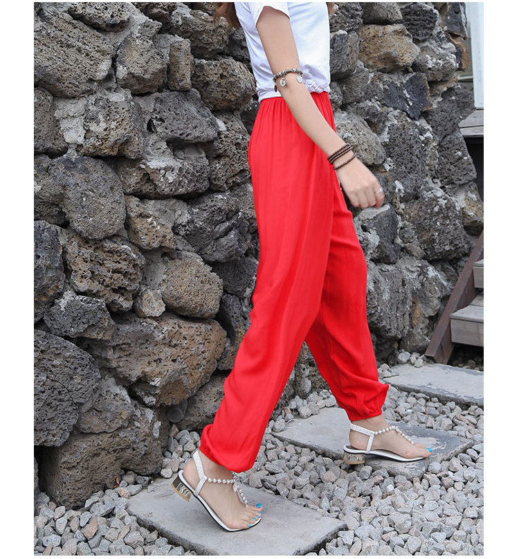 Baggy Pants Women Plus Size Women Pants 19 Summer Women Solid Color Casual Loose Harem Pants Trousers Pantalon Femme Pantalon 6