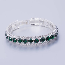 Sliver Color Bracelets&Bangles Female CZ Diamonds Bracelet Handmade 2017 Statement Vintage Crystal Bangles For Women's Bracelet
